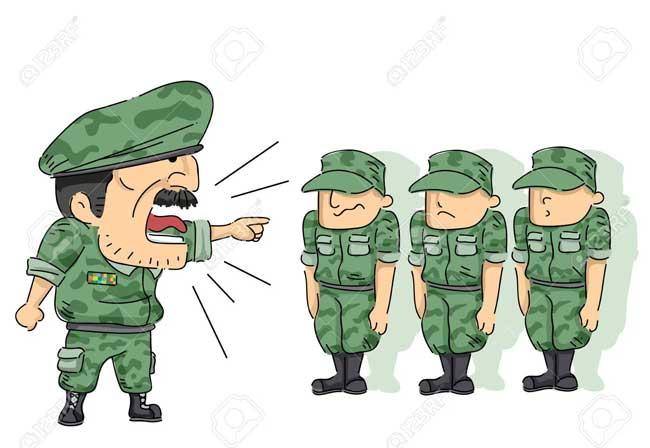 نصیحت فرمانده در سربازی