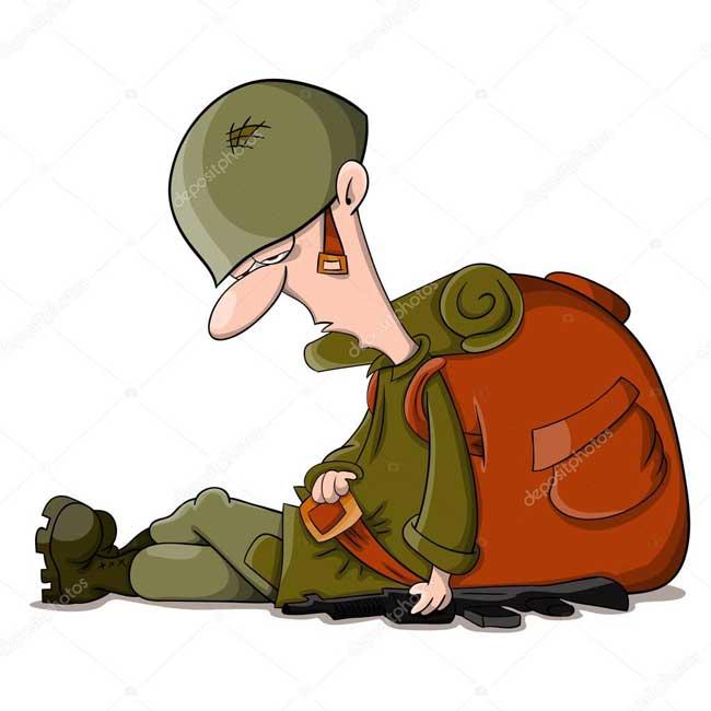 سرباز خسته